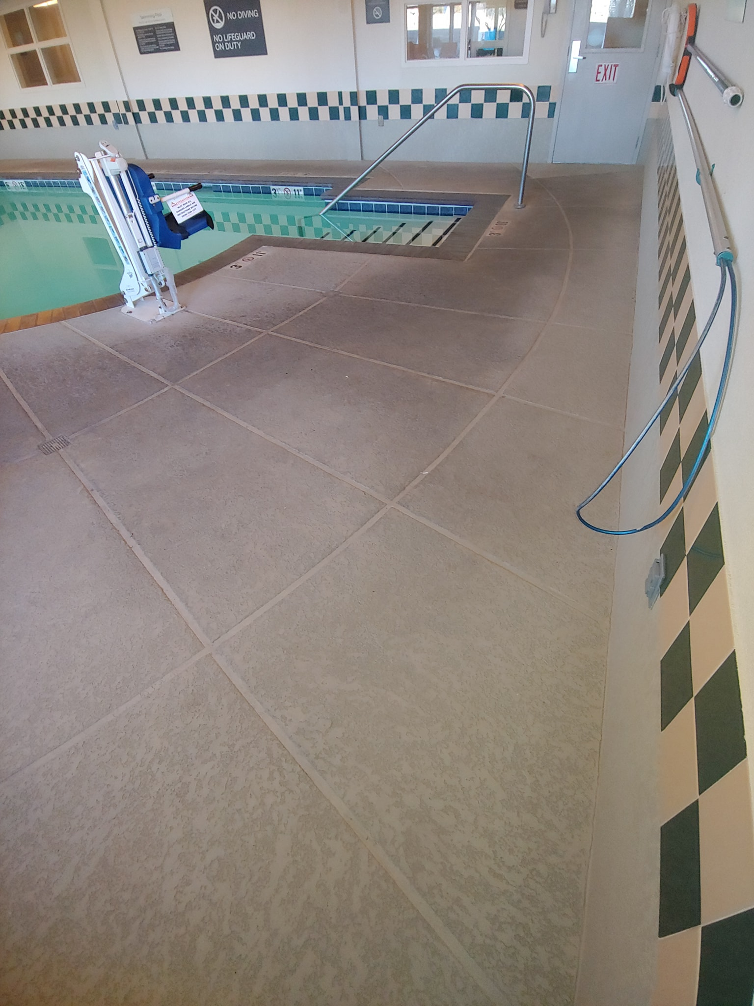 Pressure washed pool in ABQ