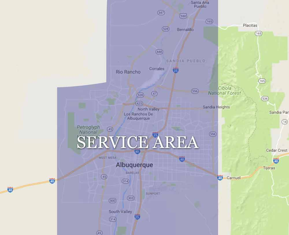 Window Cleaning Service Albuquerque Map